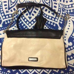 Elle Bags - Elle chain strap cream and black shoulderbag